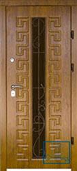 Решётка на металлической дверной панели №015
