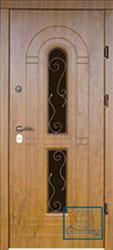 Решётка на металлической дверной панели №016
