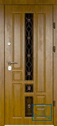 Решётка на металлической дверной панели №017