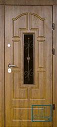 Решётка на металлической дверной панели №018