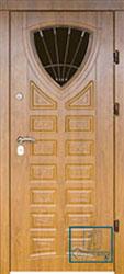 Решётка на металлической дверной панели №019