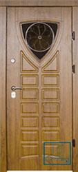 Решётка на металлической дверной панели №020