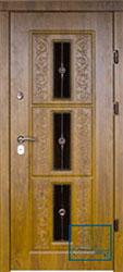 Решётка на металлической дверной панели №021