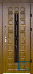 Решётка на металлической дверной панели №022