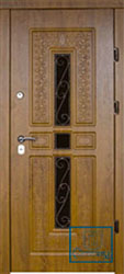 Решётка на металлической дверной панели №023