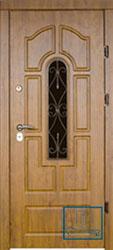 Решётка на металлической дверной панели №024