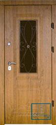 Решётка на металлической дверной панели №025