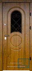 Решётка на металлической дверной панели №026