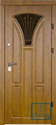 Решётка на металлической дверной панели №027