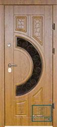 Решётка на металлической дверной панели №028