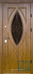Решётка на металлической дверной панели №029