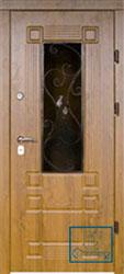 Решётка на металлической дверной панели №030