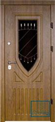 Решётка на металлической дверной панели №031