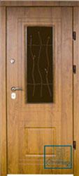 Решётка на металлической дверной панели №032