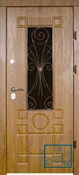 Решётка на металлической дверной панели №033