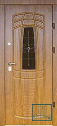 Решётка на металлической дверной панели №034