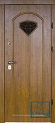 Решётка на металлической дверной панели №035