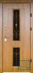 Решётка на металлической дверной панели №036