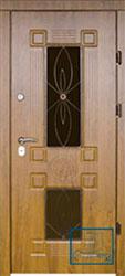 Решётка на металлической дверной панели №037