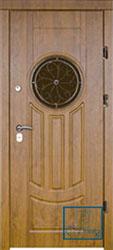 Решётка на металлической дверной панели №038