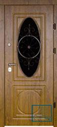 Решётка на металлической дверной панели №039