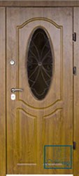 Решётка на металлической дверной панели №040