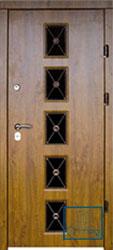 Решётка на металлической дверной панели №041