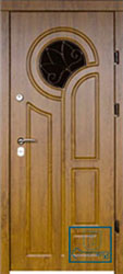 Решётка на металлической дверной панели №042