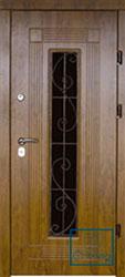 Решётка на металлической дверной панели №043