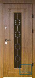 Решётка на металлической дверной панели №044