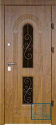 Решётка на металлической дверной панели №045