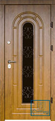 Решётка на металлической дверной панели №046
