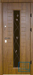 Решётка на металлической дверной панели №047