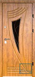 Решётка на металлической дверной панели №048