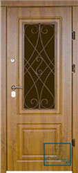 Решётка на металлической дверной панели №049