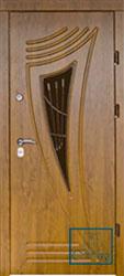 Решётка на металлической дверной панели №050