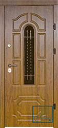 Решётка на металлической дверной панели №051
