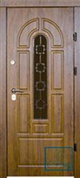 Решётка на металлической дверной панели №052