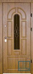 Решётка на металлической дверной панели №053