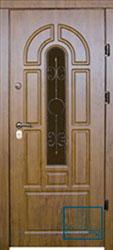 Решётка на металлической дверной панели №054