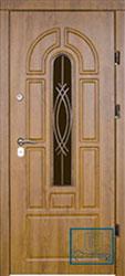 Решётка на металлической дверной панели №055