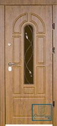 Решётка на металлической дверной панели №056