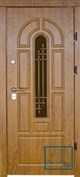 Решётка на металлической дверной панели №057