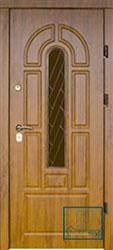 Решётка на металлической дверной панели №058
