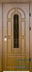 Решётка на металлической дверной панели №059