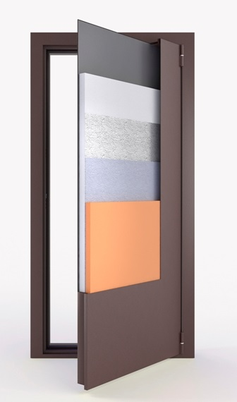 Входная непромерзающая дверь с терморазрывом