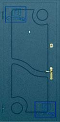 Рисунок на металлической дверной панели-№1