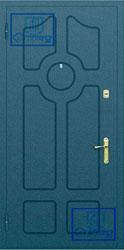 Рисунок на металлической дверной панели-№2