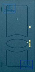 Рисунок на металлической дверной панели-№3