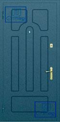 Рисунок на металлической дверной панели-№4